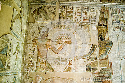 Ptolemy offering to Amun