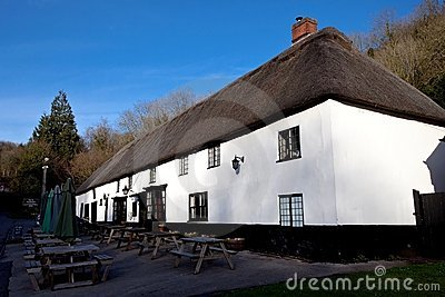 Pub in a thatched roof house