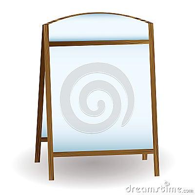 Pub white notice board