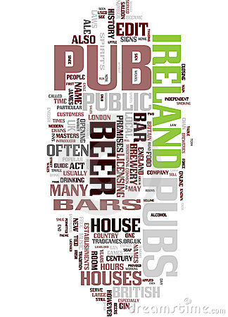 Free Pub Word Collage Royalty Free Stock Photos - 10978888