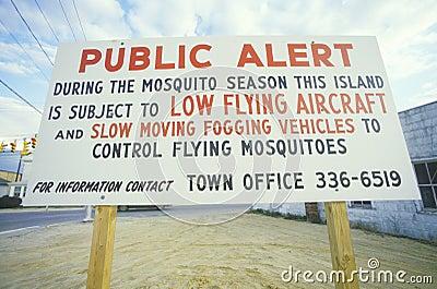 Public alert sign Editorial Photography