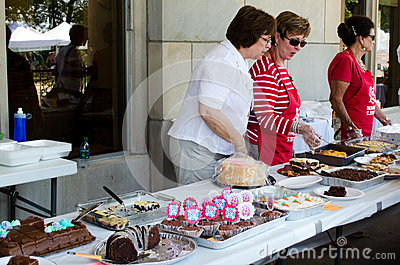 Public bake sale Editorial Photography