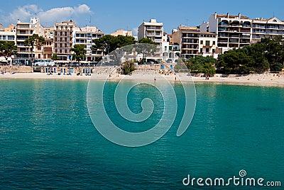 Public beach of Porto Cristo resort, Majorca