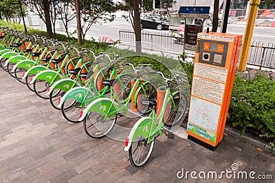 Public bike Editorial Image