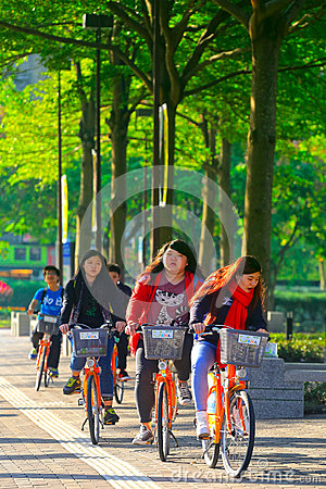 Public bike Editorial Stock Photo