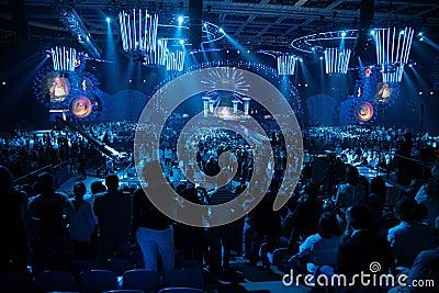 Public on concert Editorial Photo
