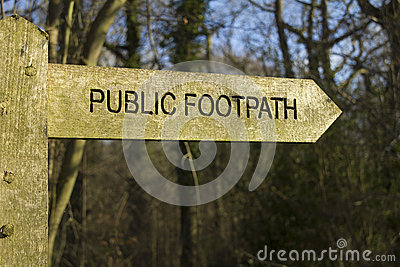 Public Footpath Royalty Free Stock Photography - Image: 29571587