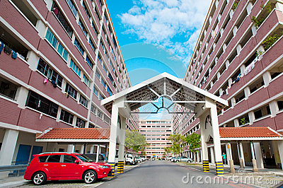 Public Housing in Singapore Editorial Stock Photo