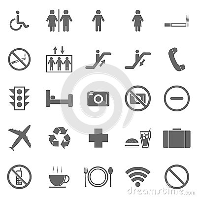 Public icons on white background