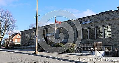 Public Library at Oshawa, Ontario, Canada 4K. The Public Library at Oshawa, Ontario, Canada 4K stock footage