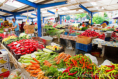 At public market Editorial Stock Photo