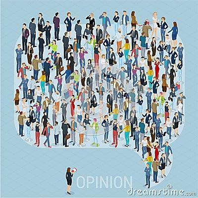 Free Public Opinion Vector Template Stock Photo - 93344840