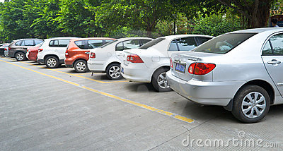 Public parking Editorial Stock Image