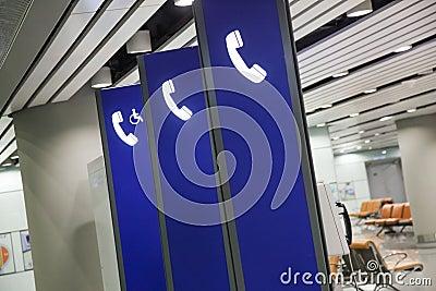 Public phone sign