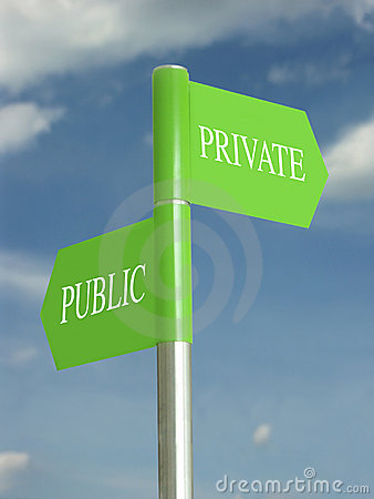 Public and private domains