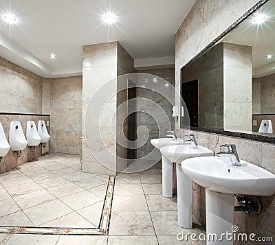 Public restroom interior
