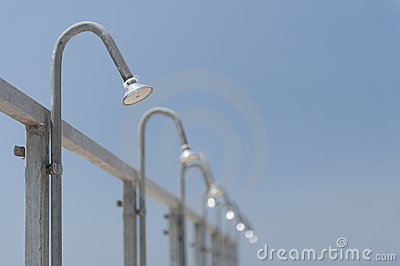 Public shower heads