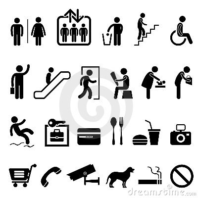 Free Public Sign Shopping Center Building Icon Symbol Stock Image - 20452821
