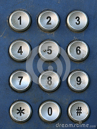 Public Telephone keypad ,macro