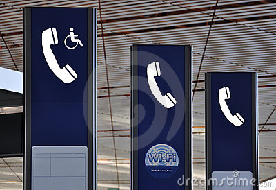 Public Telephone Logo,Wifi