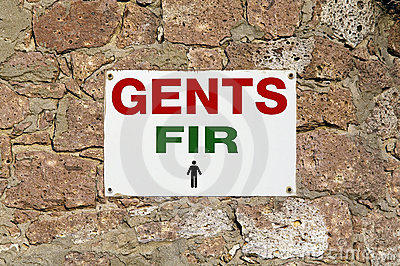 Gents, Fir, wc for men
