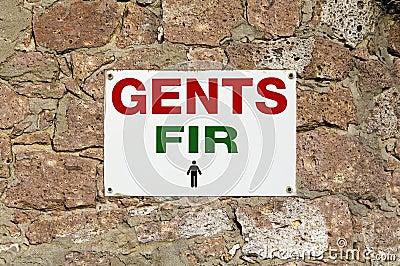 WC for men. Gents Fir
