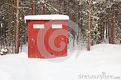 Public toilet in open air