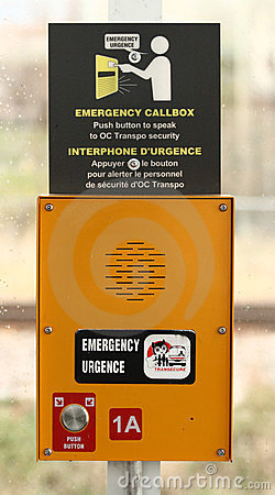 Public Transit Emergency Callbox Editorial Image