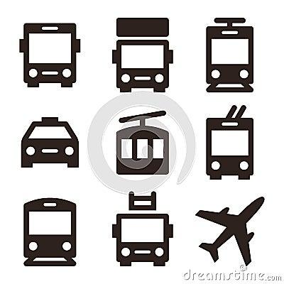 Free Public Transport Icons Isolated On White Background Royalty Free Stock Image - 80472866