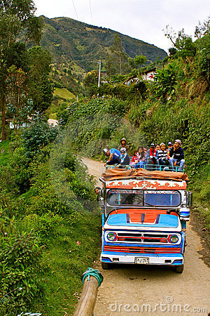 Public transport in rural Colombia Editorial Stock Image