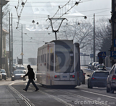 Public Transport - Tram - Krakow - Poland Editorial Image