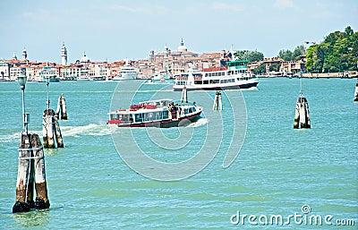 Public transport in Venice Editorial Stock Photo