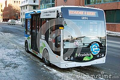 Public Transportation in Quebec City Editorial Stock Photo