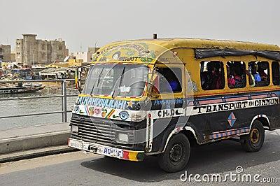 Public transportation typical bus in Senegal