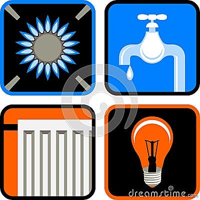 Free Public Utilities Icon Set Stock Photos - 11408223