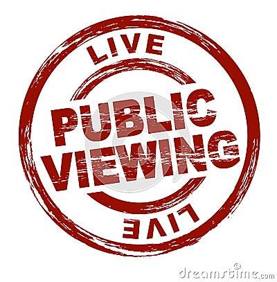 Public viewing
