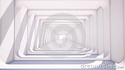 Publicidad para diseño de papel tapiz digital Antecedentes futuros Fondo blanco Burla vacía Habitación vacía blanca Futuro almacen de metraje de vídeo