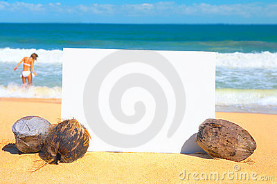 Publicité de plage