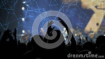 Publikum an einem Konzert stock video footage