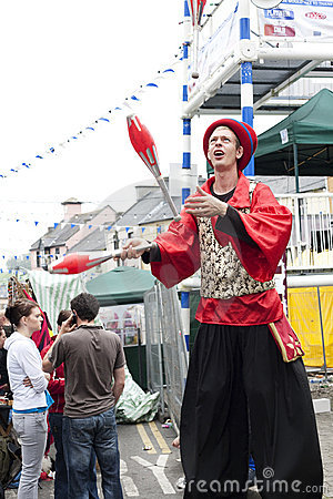 Puck Fair Busker Editorial Stock Photo