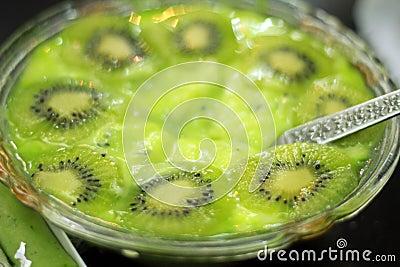 Pudín del kiwi