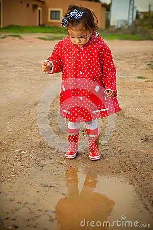 Puddle before jumping