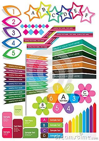 Pudełkowaty kolorowy tekst