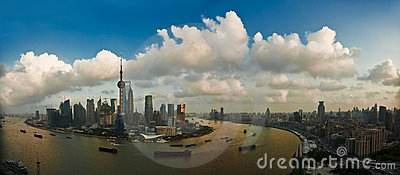Pudong and the Bund Editorial Photography