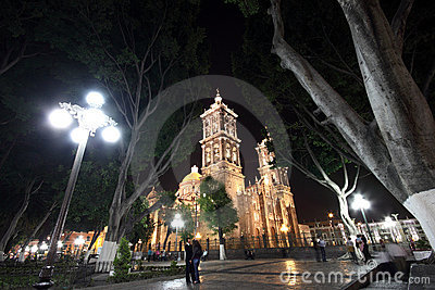 Puebla by night