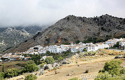 Pueblo blanco Benaocaz in Andalusia, Spain
