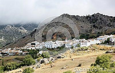 Pueblo blanco Benaocaz in Andalusia, Spain