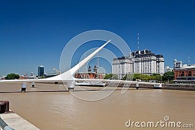 Puente de la Mujer Bridge Argentina Editorial Image