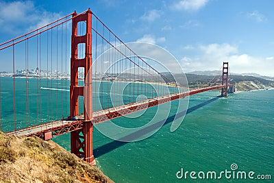 Puente de puerta de oro en San Francisco