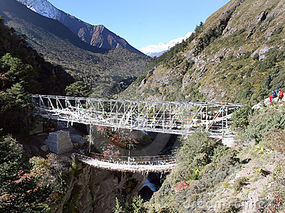 Puente de suspensión - Nepal